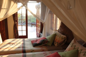 3rd bedroom also with a double bed, with a beautiful sunrise view